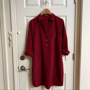 The Limited maroon shirt dress, size L